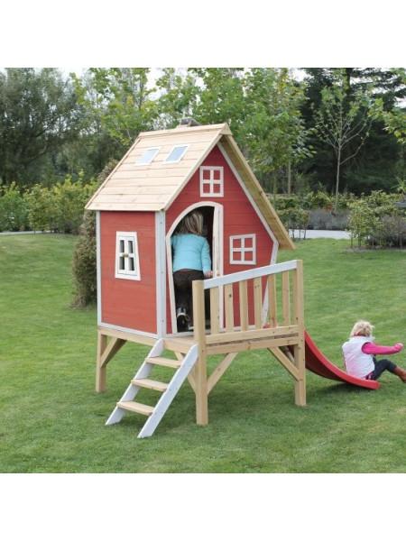 Дитячий дерев'яний будиночок Фантазія з гіркою