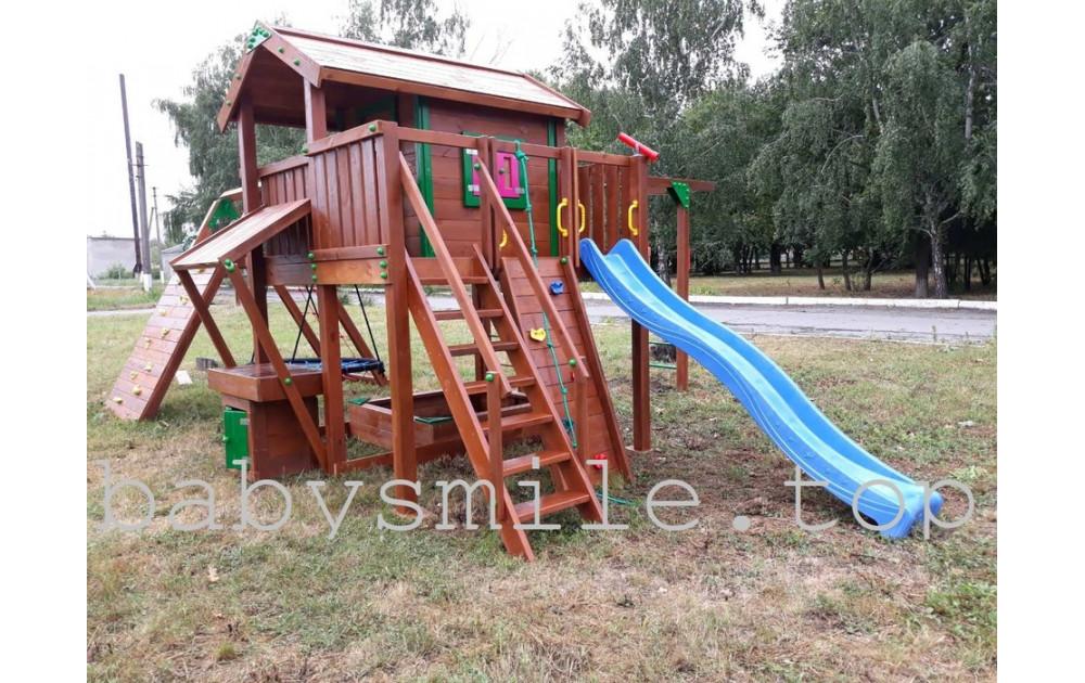 Монтаж деревянной площадки Spielplatz -22 и 24