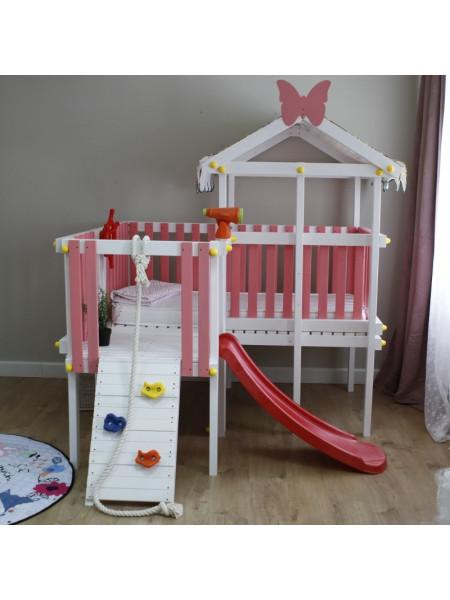 Домик кровать с игровым комплексом