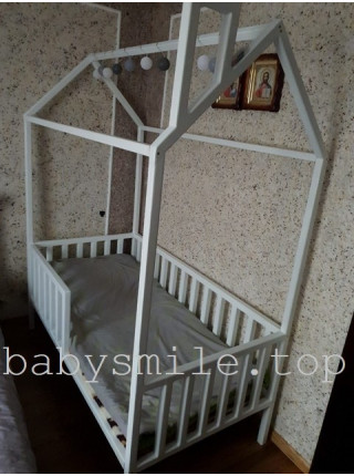 Кровать домик 190*80 см Мое желание Ясень