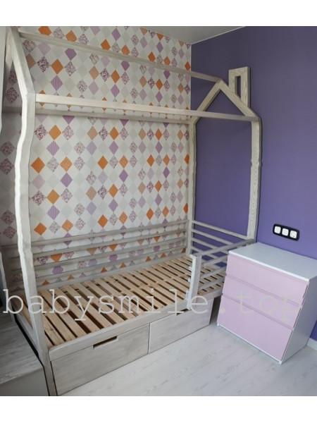 Ліжко будиночок 190 * 80 см Моє бажання Ясен