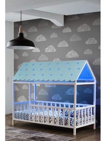 Кровать домик 160*80 см Мое желание Ольха
