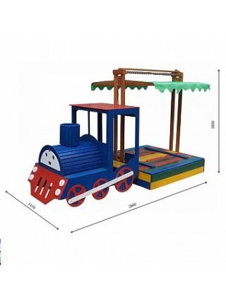 Пісочниця-Паровоз Веселка 145 на 145 см