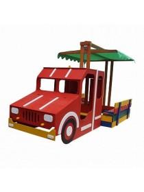 Ігровий комплекс Пожежна машина-пісочниця 145х145 см