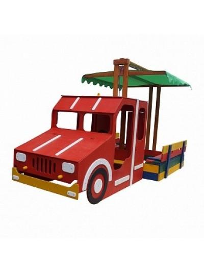 Игровой комплекс Пожарная машина-песочница 145х145 см