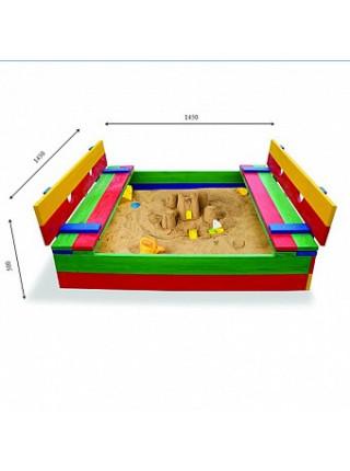 Песочница-трансформер цветная 145 см