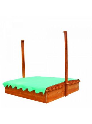 Дерев'яна пісочниця із дахом 2 в 1
