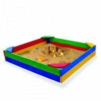 Дитяча пісочниця дерев'яна кольорова 145 см
