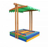 Пісочниця дерев'яна з дахом