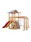 Детская площадка деревянная с двумя горками BL-12
