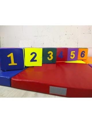 Набор кубики с цифрами + коврики