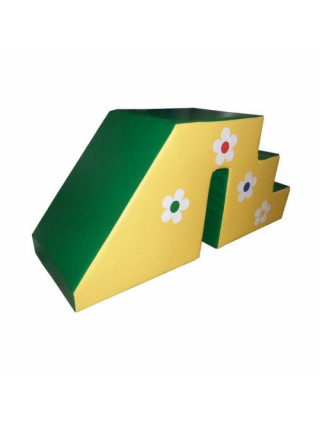 Мягкий модуль Горка Цветочек со ступеньками