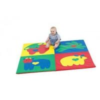 Детский коврик-мат развивающий Зоо