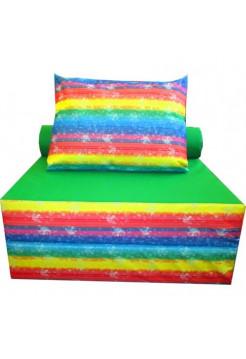 Бескаркасное кресло с подушкой Цветное