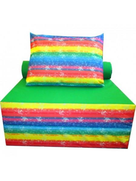 Бескаркасное кресло-кровать с подушкой Цветное