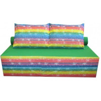Диван-ліжко безкаркасний з подушкою Кольоровий