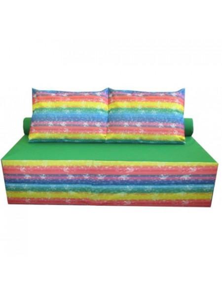 Диван-кровать  бескаркасный с подушкой Цветной