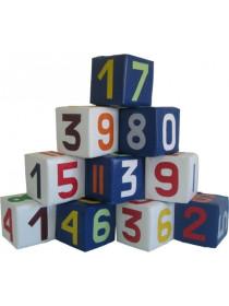 Набор мягких кубиков Цифры