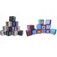 Набор мягких кубиков Пора в школу