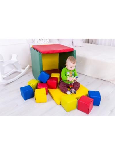 Мягкий модуль Домик с кубиками