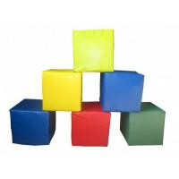 Мягкие модульные кубики Цветные