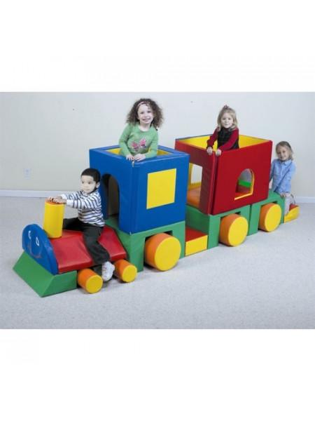 Мягкий модульный конструктор Поезд