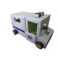 Конструктор-трансформер модульный Машина полицейская