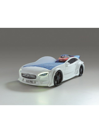 Кровать-машинка GT белая Турция