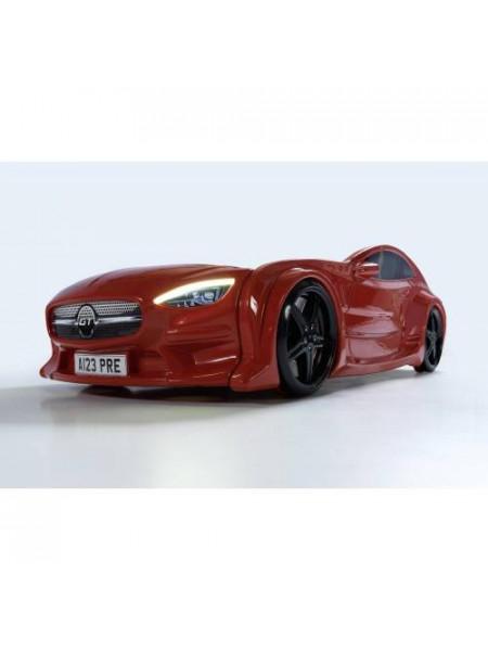 Кровать-машинка GT красная Турция