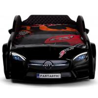 Кровать в виде машины - Mersedes 80х160 черная, комплектация плюс