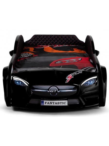 Ліжко у вигляді машини - Mersedes 80х160 чорне, комплектація плюс