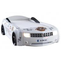 Кровать-машина Chevrolet Camaro пластик белая