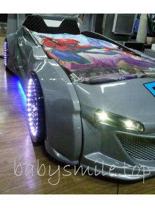 Дитяче ліжко машина Jaguar сірий металік