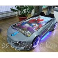 Детская кровать машина Jaguar серый металлик