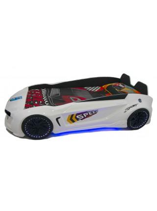 Детская кровать машина Jaguar белая