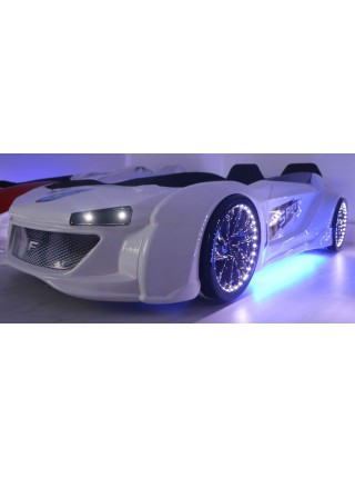 Дитяче ліжко машина Jaguar біле