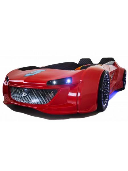 Дитяче ліжко машина Jaguar червоне