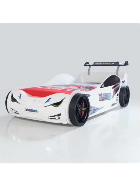 Ліжко-машинка Суперкар біле