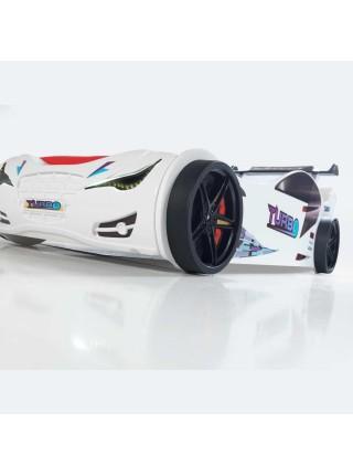 Кровать-машинка Суперкар белая