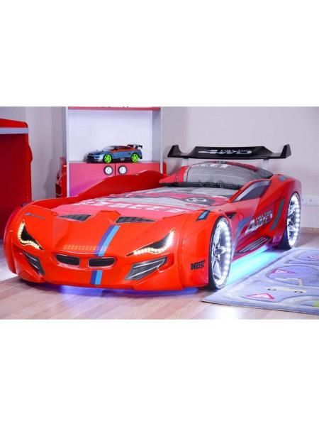 Ліжко у вигляді машини BMW червоне Туреччина