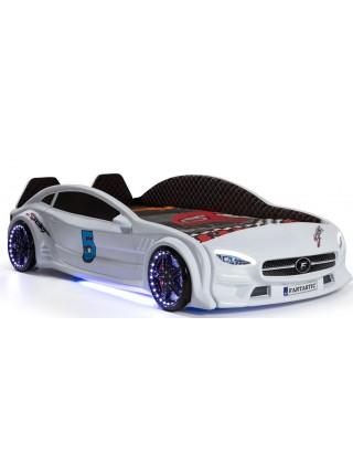 Кровать машинка с подсветкой - Mercedes 190х90 см, пластик Турция
