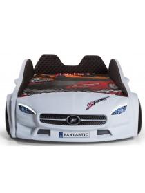 Ліжко машинка з підсвічуванням - Mercedes 190х90 см, пластик Туреччина