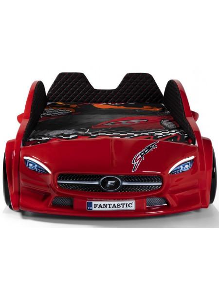 Ліжко машина з м'якими бортами - Mercedes 190х90 см, пластик Туреччина
