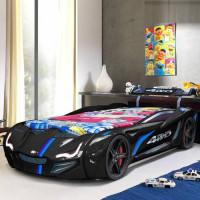 Кровать машинка BMW черная, пластик, Турция