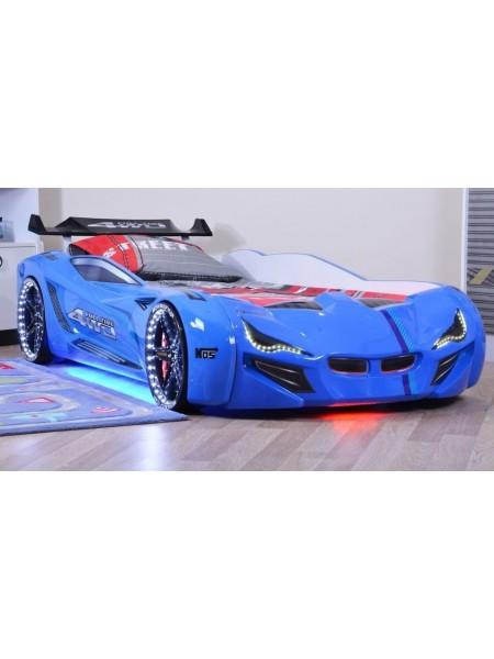 Ліжко машинка BMW синє