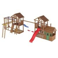 Ігровий майданчик з дерева вежа з будиночком-13
