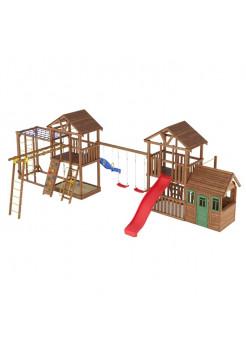 Игровая площадка из дерева Башня с домиком-13
