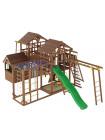 Игровая площадка из дерева Башня с домиком-15
