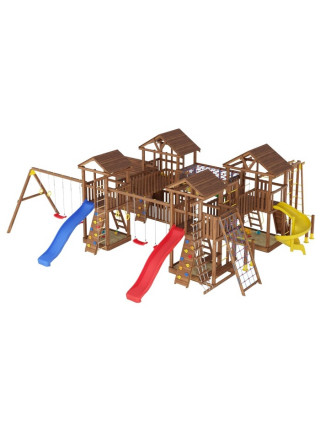 Игровая площадка из дерева Башня с домиком-18