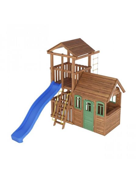 Игровая площадка с деревянным домиком Башня-6